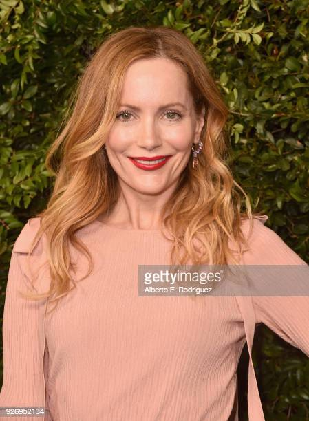 Leslie Mann wearing CHANEL attends Charles Finch and Chanel PreOscar Awards Dinner at Madeo in Beverly Hills on March 3 2018 in Beverly Hills...