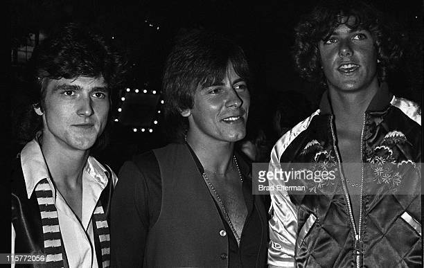 Leslie Mckeown Alan Longmuir and Patrick Cassidy at the Grease party at Paramount Studios in Los Angeles California **EXCLUSIVE**