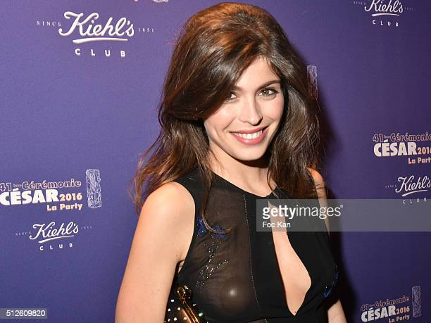 Leslie Medina attends a photocall at the Queen Club after The Cesar Film Awards 2016 on February 26 2016 in Paris France