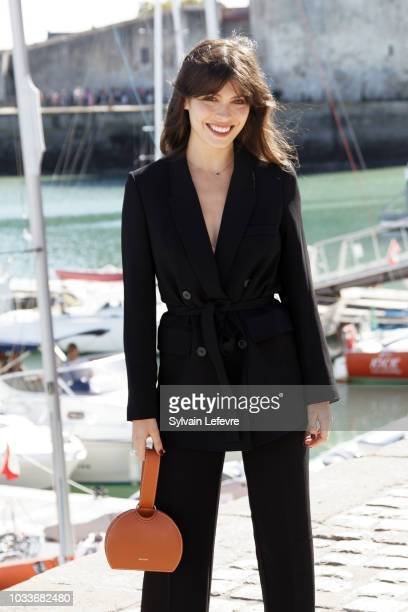Leslie Medina attends day 4 photocall of 20th Festival of TV Fiction on September 15 2018 in La Rochelle France