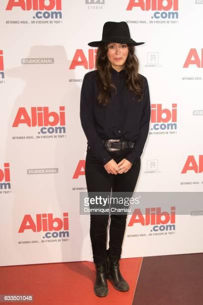 Leslie Medina attends the Alibicom Paris Premiere at Cinema Gaumont Opera on January 31 2017 in Paris France