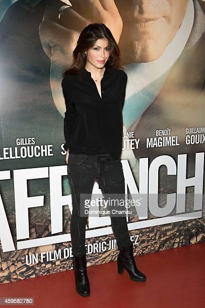 Leslie Medina attends the 'La French' Paris premiere at Cinema Gaumont Capucine on November 25 2014 in Paris France