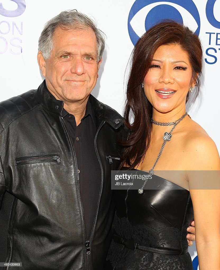 Leslie Moonves and Julie Chen arrive at the CBS Summer Soiree at The London West Hollywood on May 19, 2014 in West Hollywood, California.