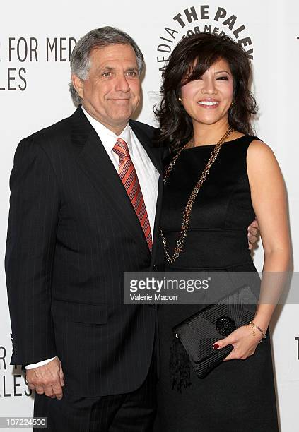 Leslie Moonves and wife TV Personnality Julie Chen arrive at The Paley Center For Media Annual Gala Honoring Mary Hart And Al Michaels Salute To...