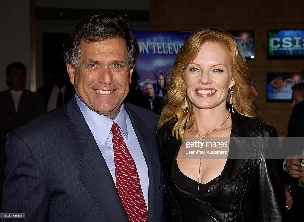 Leslie Moonves, CEO and Chairman CBS and Marg Helgenberger