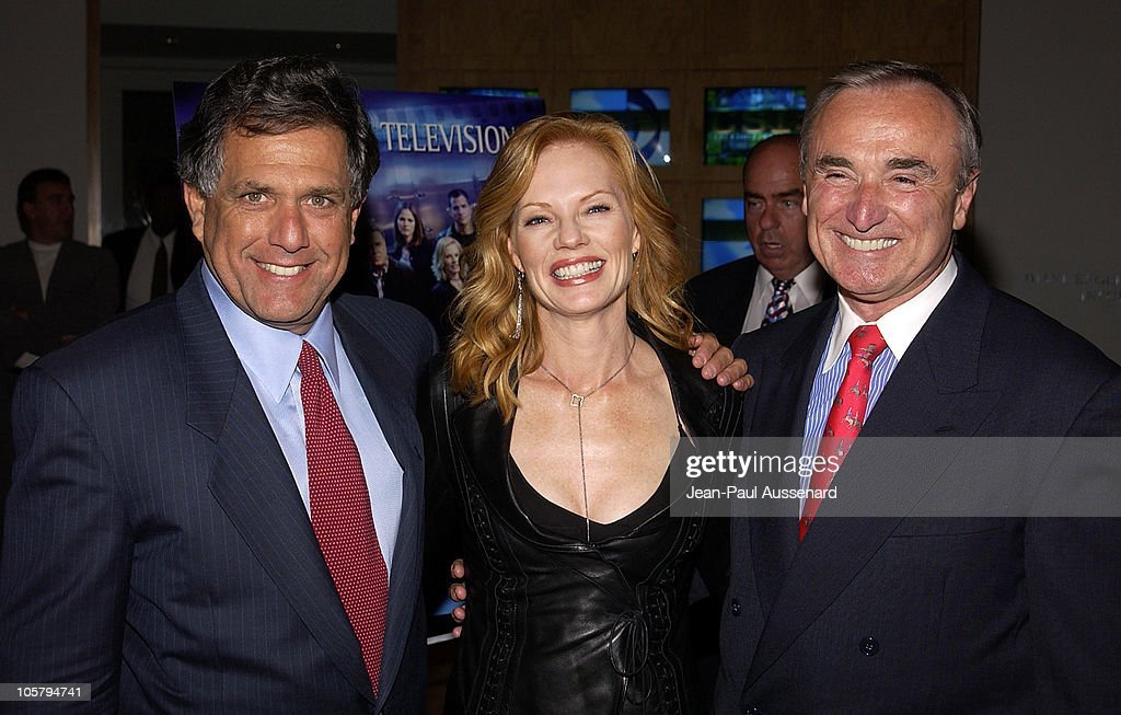 Leslie Moonves, CEO and Chairman CBS, Marg Helgenberger and Los Angeles Chief of Police William Bratton