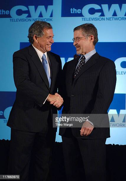 Leslie Moonves President and Chief Executive Officer of CBS Corporation and Barry Meyer Chairman and Chief Executive Officer of Warner Bros...