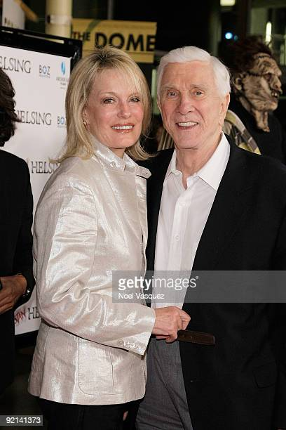 Leslie Nielsen and his wife Barbaree Earl Nielsen attend the Stan Helsing Los Angeles Premiere at ArcLight Cinemas on October 20 2009 in Hollywood...