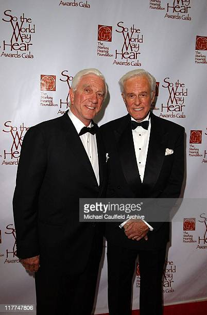 Leslie Nielsen and Robert Culp during So The World May Hear Awards Gala All Access at Rivercentre in St Paul Minnesota United States