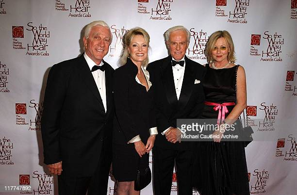 Leslie Nielsen with guest Robert Culp and guest during So The World May Hear Awards Gala All Access at Rivercentre in St Paul Minnesota United States