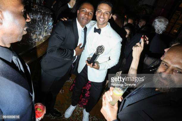 Leslie Odom Jr and Ari'el Stachel attend the Tony Awards Gala at the Plaza on June 10 2018 in New York New York
