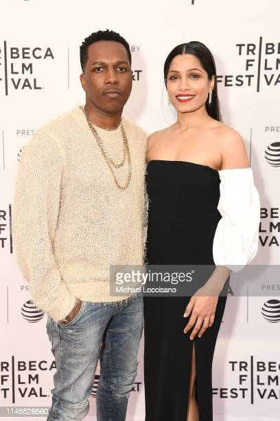 Leslie Odom Jr and Freida Pinto attend the World premiere of Only during the 2019 Tribeca Film Festival at SVA Theater on April 27 2019 in New York...