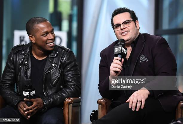 Leslie Odom Jr. And Josh Gad attend the Build Series to discuss the new film 'Murder on The Orient Express' at Build Studio on November 6, 2017 in...