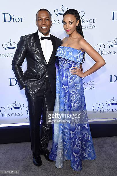 Leslie Odom Jr. And Nicolette Robinson attend the 2016 Princess Grace awards gala at Cipriani 25 Broadway on October 24, 2016 in New York City.