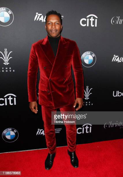 Leslie Odom Jr attends Christmas at The Grove A Festive Tree Lighting celebration at The Grove on November 17 2019 in Los Angeles California