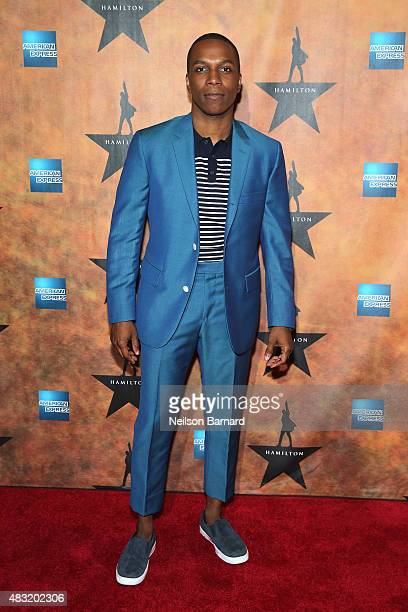 Leslie Odom Jr attends the 'Hamilton' Broadway Opening Night at Pier 60 on August 6 2015 in New York City