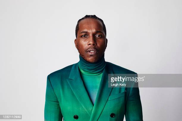 Leslie Odom Jr is seen in his award show look for the 27th Annual Screen Actors Guild Awards on April 1, 2021 in Los Angeles, California. Due to...