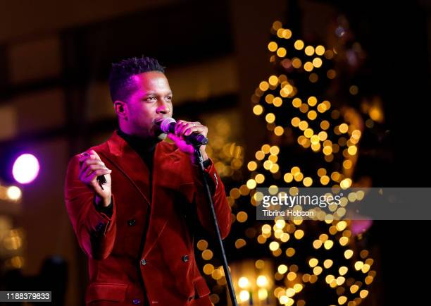 Leslie Odom Jr performs at Christmas at The Grove A Festive Tree Lighting celebration at The Grove on November 17 2019 in Los Angeles California