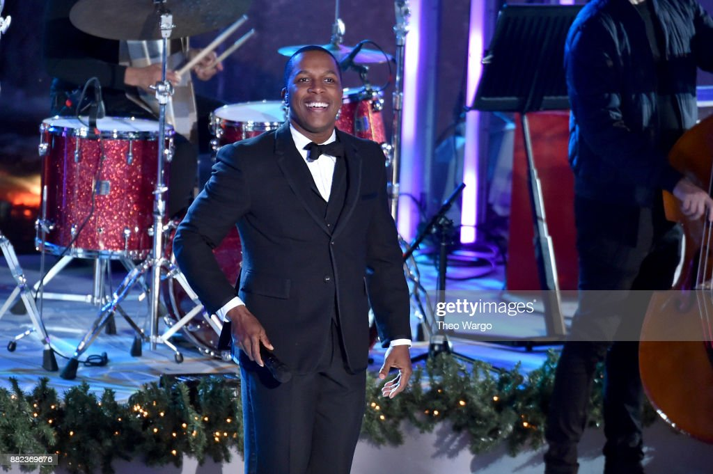 Leslie Odom Jr. performs onstage during the 85th Rockefeller Center Christmas Tree Lighting Ceremony at Rockefeller Center on November 29, 2017 in New York City.