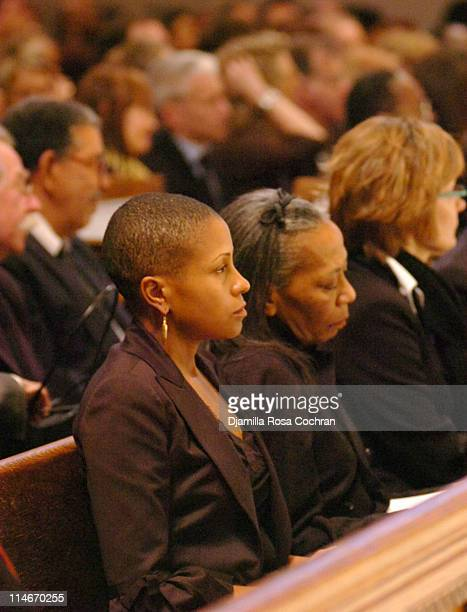 Leslie Parks and Toni Parks at Riverside Church during the funeral service for Photographer Gordon Parks on March 14 2006 in New York City