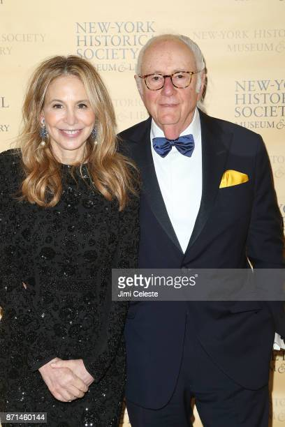 Leslie Perkins and Buzzy Geduld attend the NewYork Historical Society's History Makers Gala 2017 at Cipriani 25 Broadway on November 7 2017 in New...
