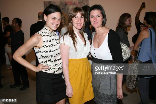 Leslie Pitts Maureen Morrison and Rebecca Lynn attend GHADA AMER 'Color Misbehavior' at Cheim Read on May 6 2010 in New York City