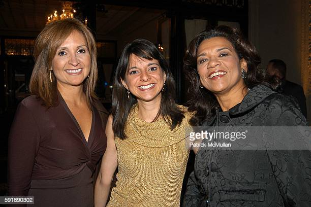 Leslie Sanchez Cathy Areu and Sonia Manzano attend Groundbreaking Latina in Leadership Awards at Hudson Theatre on October 11 2005 in New York City