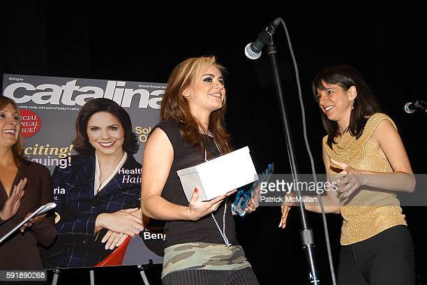 Leslie Sanchez JD Natasha and Cathy Areu attend Groundbreaking Latina in Leadership Awards at Hudson Theatre on October 11 2005 in New York City