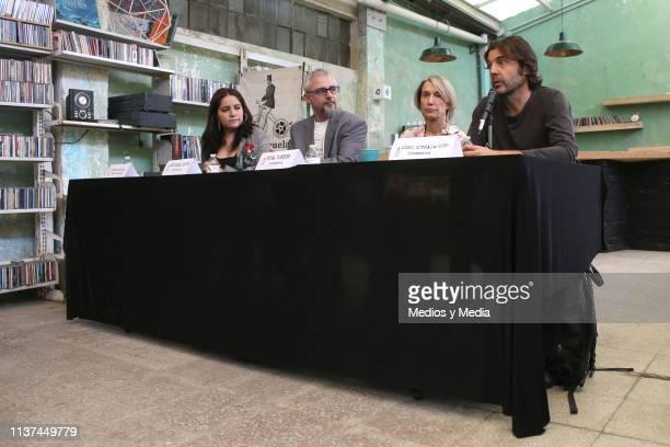 Leslie Sandoval Director and writer Michael Rowe Venezuelan film director Fina Torres and Cinematographer Diego QuemadaDiez attend the Mexican...