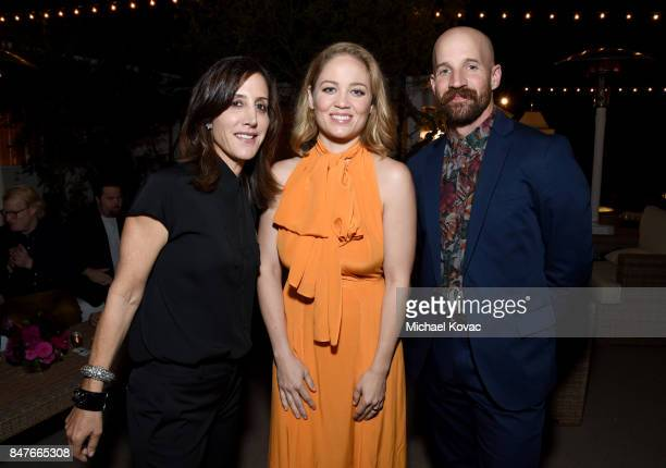 Leslie Siebert Erika Christensen and Cole Maness attend the 2017 Gersh Emmy Party presented by Tequila Don Julio 1942 on September 15 2017 in Los...