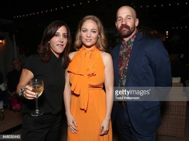 Leslie Siebert Erika Christensen and Cole Maness attend the 2017 Gersh Emmy Party presented by Tequila Don Julio 1942 on on September 15 2017 in Los...