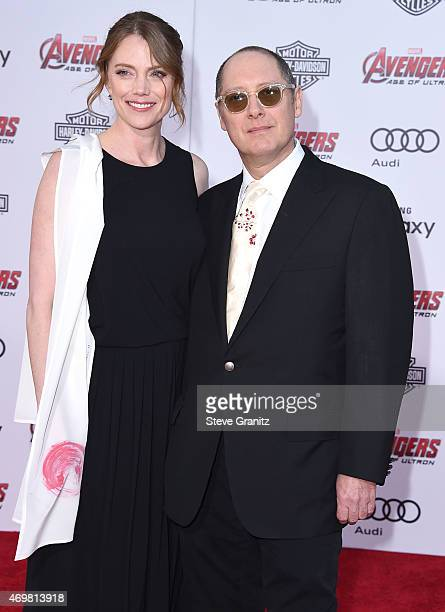 Leslie Stefanson and James Spader arrives at the Marvel's Avengers Age Of Ultron Los Angeles Premiere at Dolby Theatre on April 13 2015 in Hollywood...
