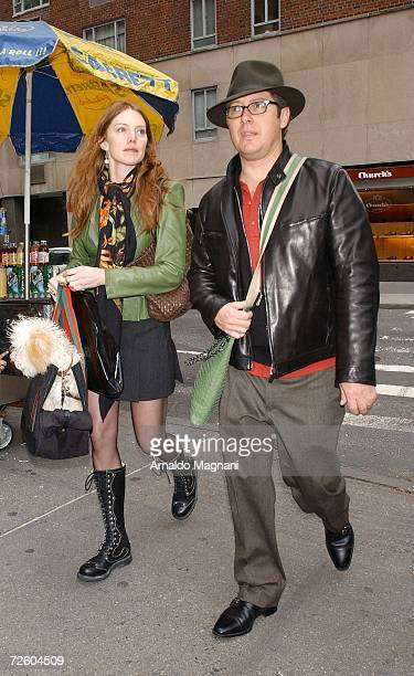 Leslie Stefanson and James Spader walk through midtown on November 19 2006 in New York City
