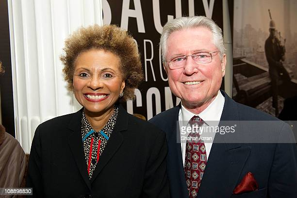 Leslie Uggams and her husband Grahame Pratt at the Ain't Nothing Like The Real Thing How The Apollo Theater Shaped American Entertainment reception...