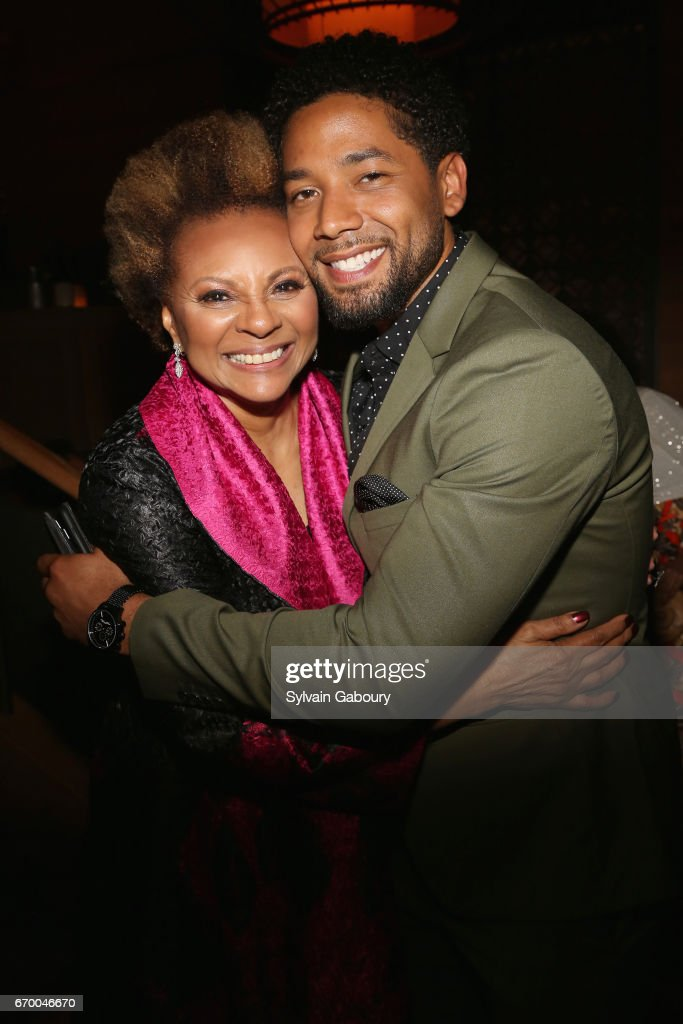 Leslie Uggams and Jussie Smollett attend 'The Immortal Life Of Henrietta Lacks' New York Premiere - After Party at TAO Downtown on April 18, 2017 in New York City.