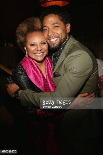 Leslie Uggams and Jussie Smollett attend 'The Immortal Life Of Henrietta Lacks' New York Premiere After Party at TAO Downtown on April 18 2017 in New...