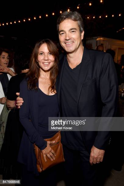 Leslie Urdang and Jon Tenney attend the 2017 Gersh Emmy Party presented by Tequila Don Julio 1942 on September 15 2017 in Los Angeles California