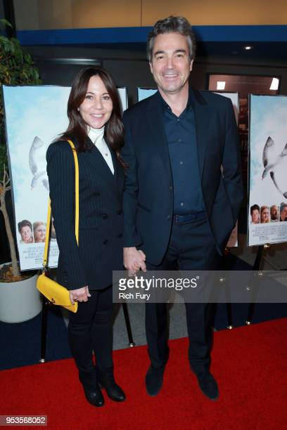 Leslie Urdang and Jon Tenney attend the premiere of Sony Pictures Classics' The Seagull at Writers Guild Theater on May 1 2018 in Beverly Hills...