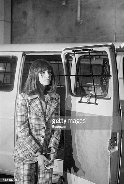 Leslie Van Houten a member of the Charles Manson family cult arriving at her retrial in Los Angeles 4/26 A retrial was called because of judicial...