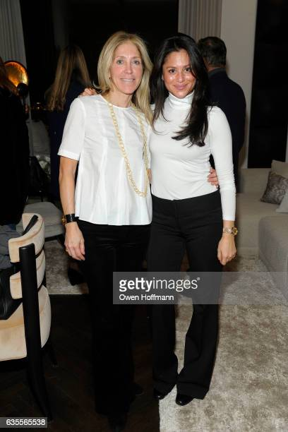 Leslie Wilson and Jade Chan attend 432 Park Avenue Reveal of the Penthouse Model Residence Designed by Kelly Behun at 432 Park Avenue on February 15...