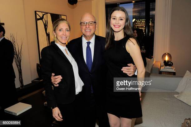 Leslie Wilson Howard Lorber and Elena Veremeeva attend 11 Beach Model Residence Unveiling Event at 11 Beach Street on March 7 2017 in New York City