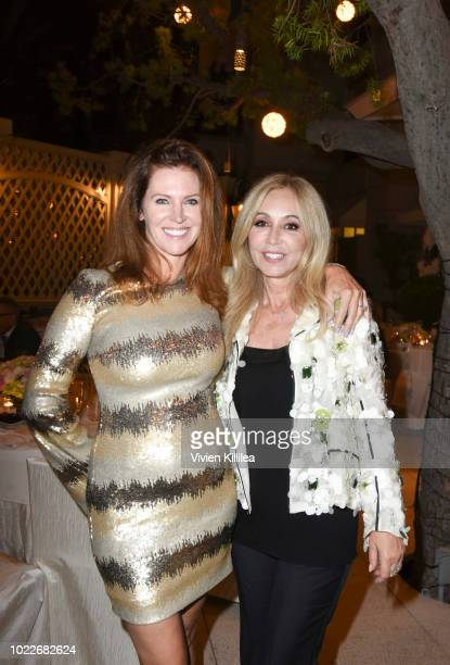 Leslie Zemeckis and Anastasia Soare attend Ohana Co LA Event Brands With Mission at The Peninsula Beverly Hills on August 23 2018 in Beverly Hills...