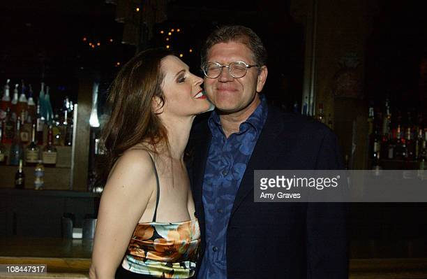 Leslie Zemeckis and Robert Zemeckis during Leslie Zemeckis Rolls Out Starr An Original Burlesque Revue at The Conga Room in Los Angeles California...