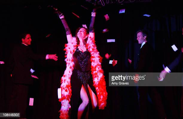 Leslie Zemeckis performs in Staar during Leslie Zemeckis Rolls Out Starr An Original Burlesque Revue at The Conga Room in Los Angeles California...
