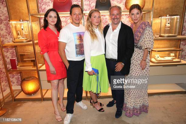 Leslie-Vanessa Lill, Trystan Puetter, Anna Lena Klenke, Renaud Lestringant, Managing Director Cartier Northern Europe and Jeannine Michaelsen during...