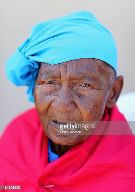 Lesothan woman has a hearing aid fitted by the Starkey Foundation at Lesotho Cooperative College on October 10, 2013 in Maseru, Lesotho. Prince...