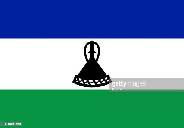 lesotho flag - lesoto fotografías e imágenes de stock