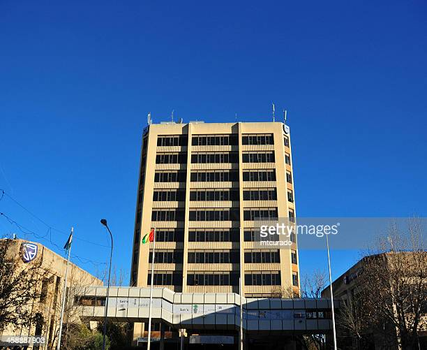lesotho, maseru - standard bank building - maseru stock photos and pictures
