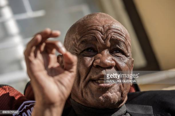 Lesotho political party All Basotho Convention leader, former Prime Minister and General Elections candidate Tom Thabane gives an interview to Agence...