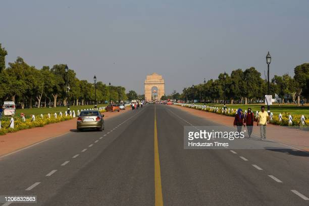 A less crowded view of Rajpath as seen from Raisina Hills as India suspended all tourist visas until April 15 in the wake of the Coronavirus threat...